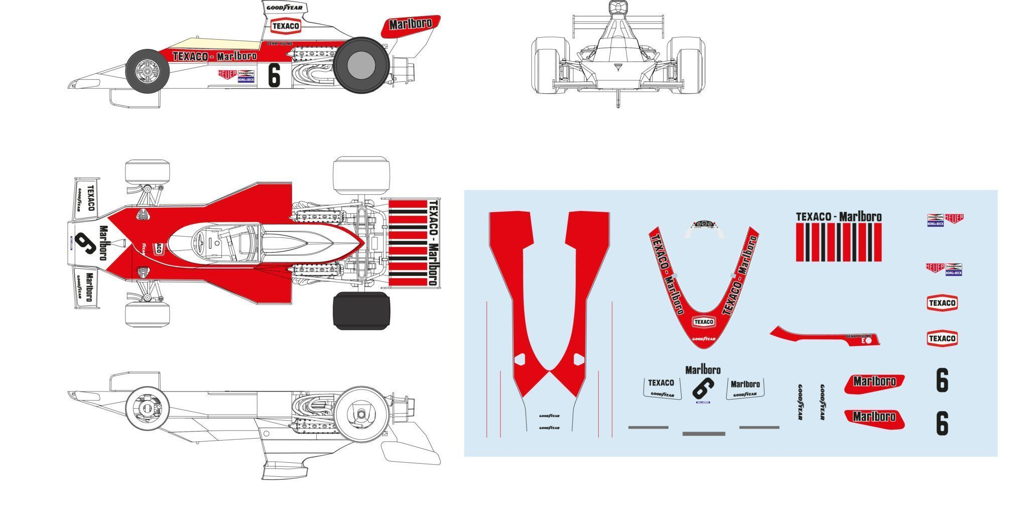 McLaren M23 for slot track - SRC