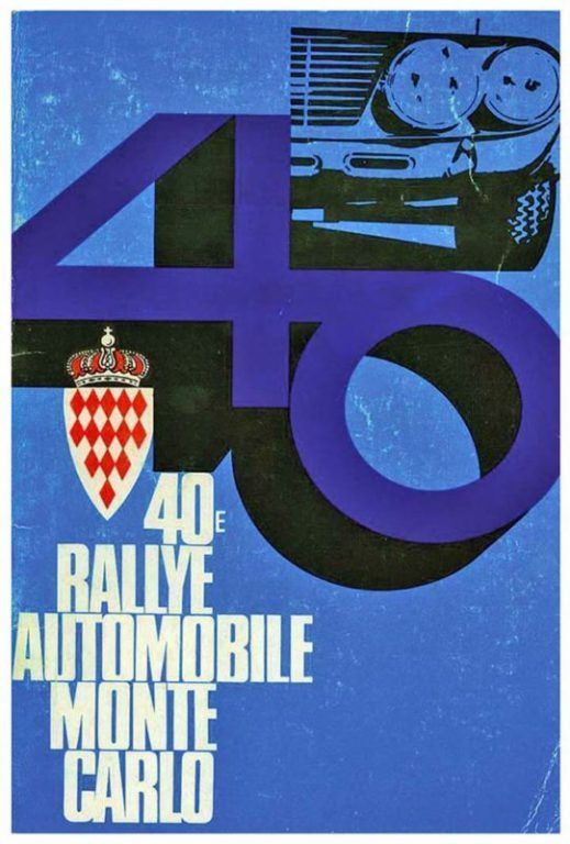 Poster of the 40th Monte Carlo Rally 1971